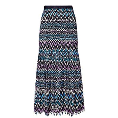 Diana C Chevron Lace Skirt