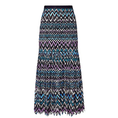 Diana C Chevron Lace Skirt