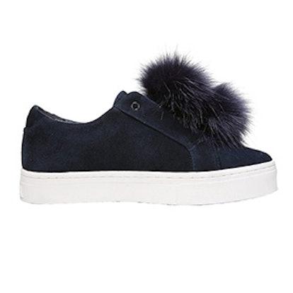 Leya Faux Fur Laceless Sneaker