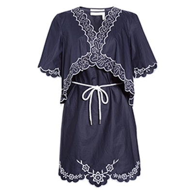 Embroidered Cotton Poplin Dress