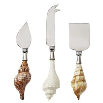 AERIN Seashell Cheese Knives, Set of 3