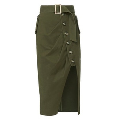 Military Button-Down Skirt