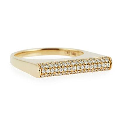 Pavé Diamond Bar Roll Ring