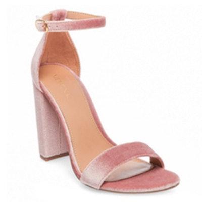 Lulu High Block Heel Ankle Strap Pump Sandals