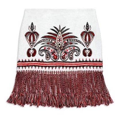 Teresa Embroidered Fringe Skirt