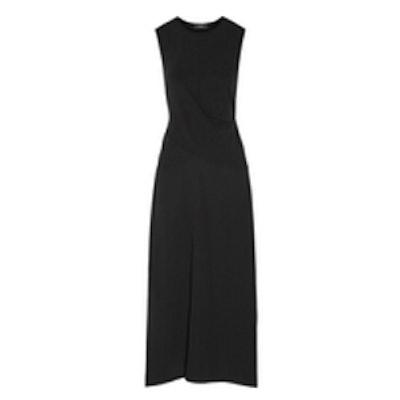 Parthernia Draped Jersey And Silk Maxi Dress