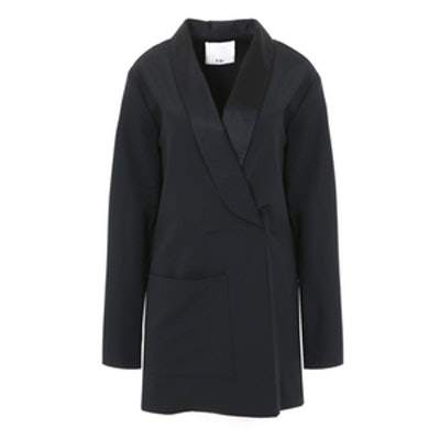 Tropical Wool Tuxedo Dress