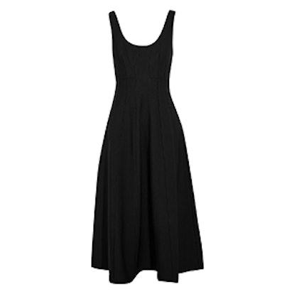 Stretch-Knit Midi Dress