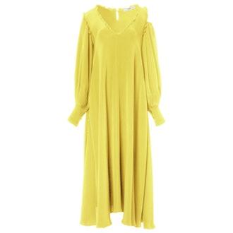 Edwardian Silk Open Shoulder Dress
