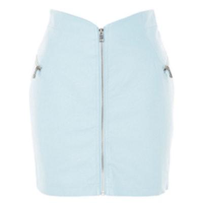 '80s Zip Through Mini Skirt