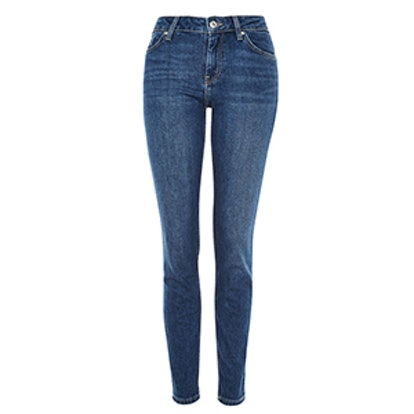 Moto Mid Blue Baxter Slim Leg Jeans