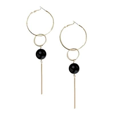 Gold Hoop Disk Earrings