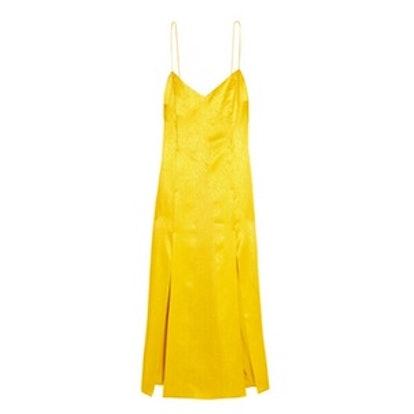 Floral Fatale Silk-Jacquard Dress