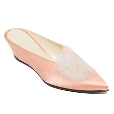 Castainge Slides With Marabou Feathers