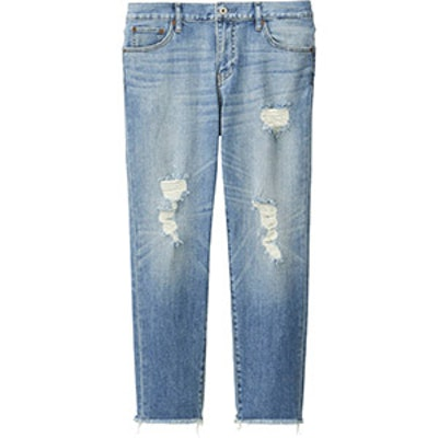 Slim Boyfriend Fit Ankle Jeans