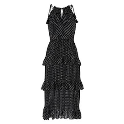 Imie Amena Print Tiered Dress