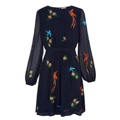 Aria Embroidered Bird Dress