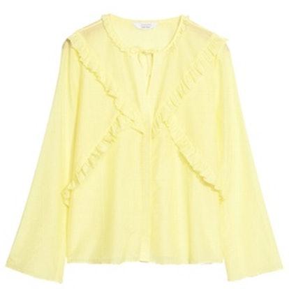 Flare Sleeve Frills Shirt