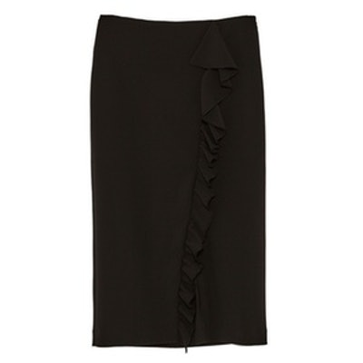 Pencil Skirt With Ruffles