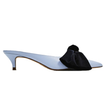 Heeled Mules With Bow