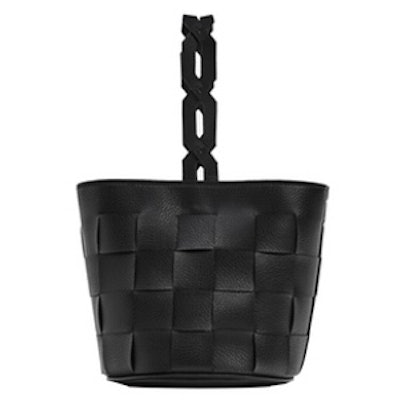 Geometric Bucket Bag With Braided Handle