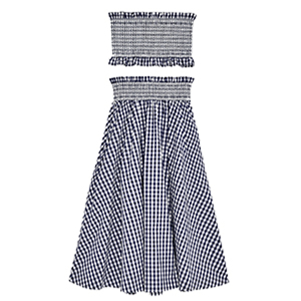Gingham Check Skirt And Top