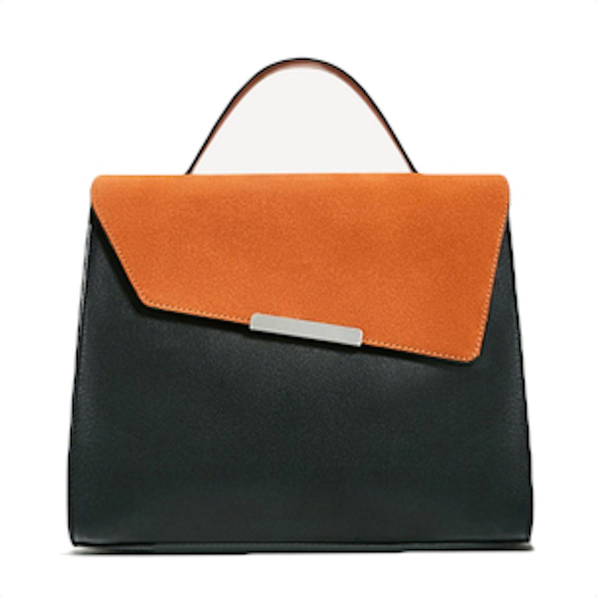 Asymetric Flap City Bag