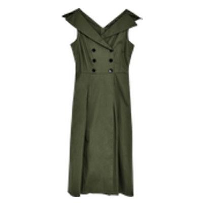 Midi Dress With Shirt Neckline