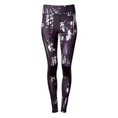 Exp Core Palm Print Pieced Mesh Legging
