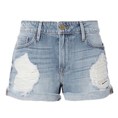 Le Grand Garcon Destroyed Jean Shorts