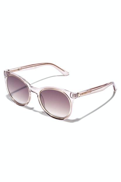 Metal Trim Round Sunglasses