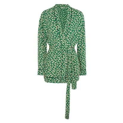 Dalton Floral-Print Crepe Jacket