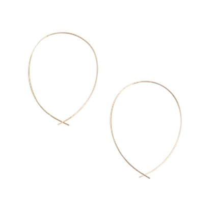 """""""Girls Night Out"""" Gold Round Wire Hoop Earrings"""