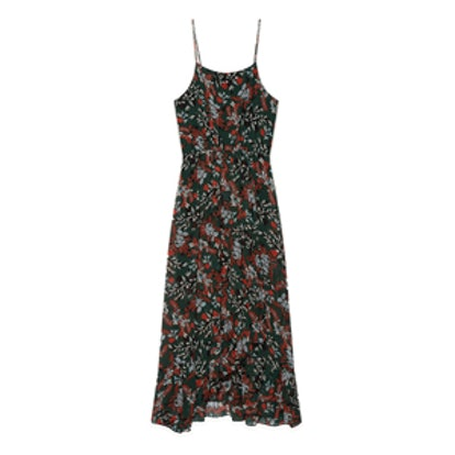 Long Printed Chiffon Dress