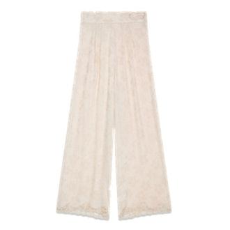 Wide-Leg Satin Jacquard Trousers