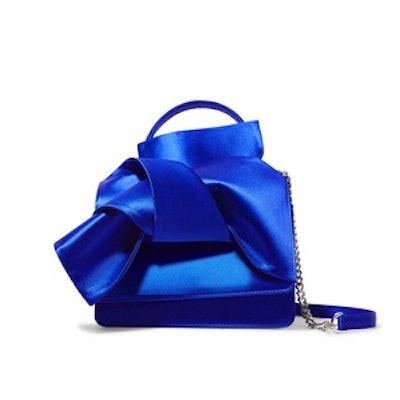 Knot Satin Shoulder Bag