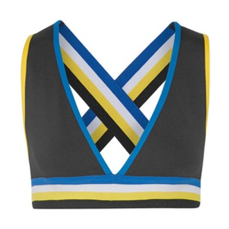 The Mountain Striped Stretch-Jersey Sports Bra
