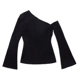 Mia One-Shoulder Bell-Sleeve Top