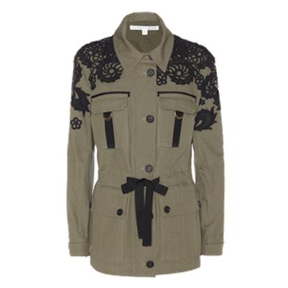 Appliquéd Cotton Jacket