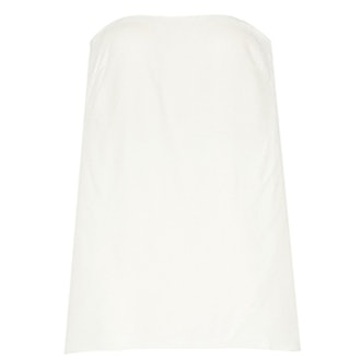 Strapless Crepe Bustier Top