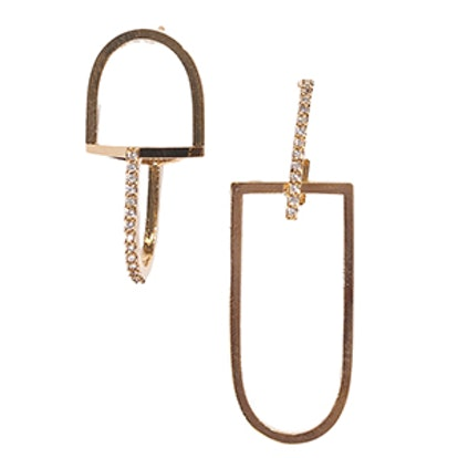 Maximus Gold Crystal Link Earrings
