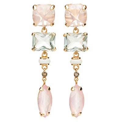 Anemoni Pink Quartz Earrings