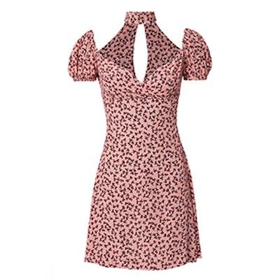Loele Off Shoulder Choker Floral Dress