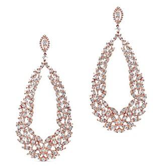 18KT Rose Gold Diamond Rome Wreath Earrings