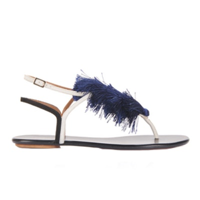 Tangier Tasseled Two-Tone Suede Sandals