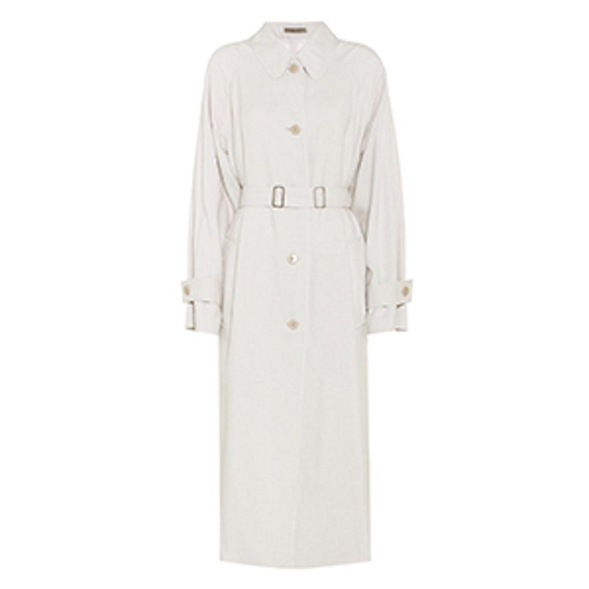 Coat In Mist Fluid Silk