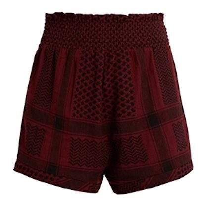 Scarf-Jacquard Cotton Shorts
