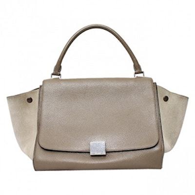 Trapèze Leather Crossbody Bag