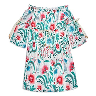 Danica Off-The-Shoulder Floral Print Dress