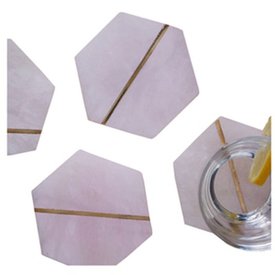Decked Out Pink Stone Coasters